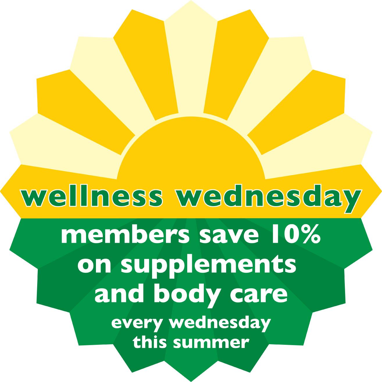 Wellness Wednesday</br>Every Wednesday<br> Three Rivers Market