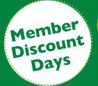 Member Discount Days 3 weeks away!