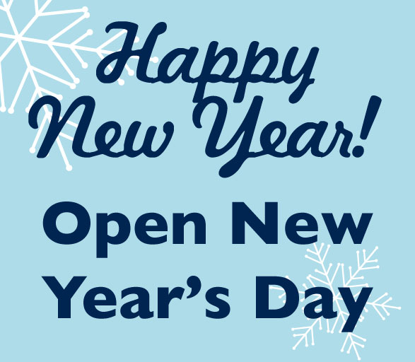 New Year's Day Hours<br> January 1st<br>12 PM - 9 PM<br>Three Rivers Market<br>