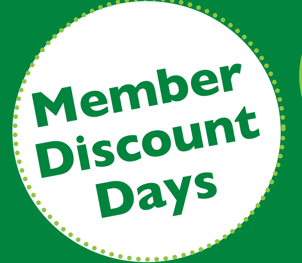 Member Discount Days <br> October 12-15 <br>Three Rivers Market