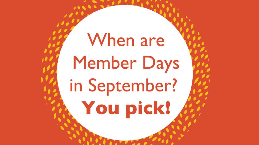 September Member Days