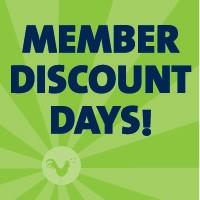 Member Discount Days</br>April 15 - 19</br>Three Rivers Market