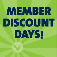Member Discount Days <br>Oct 13th - 16th