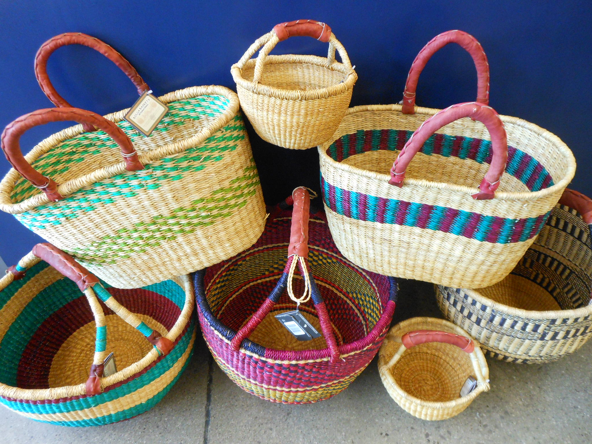 Basket Weaving Supplies Uk : Fair trade african bolga baskets three rivers market