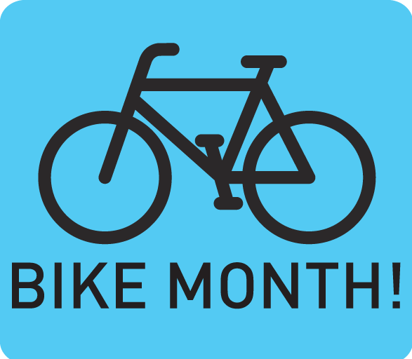 Bike Month <br> May 1st - 31st <br> Three Rivers Market<br>