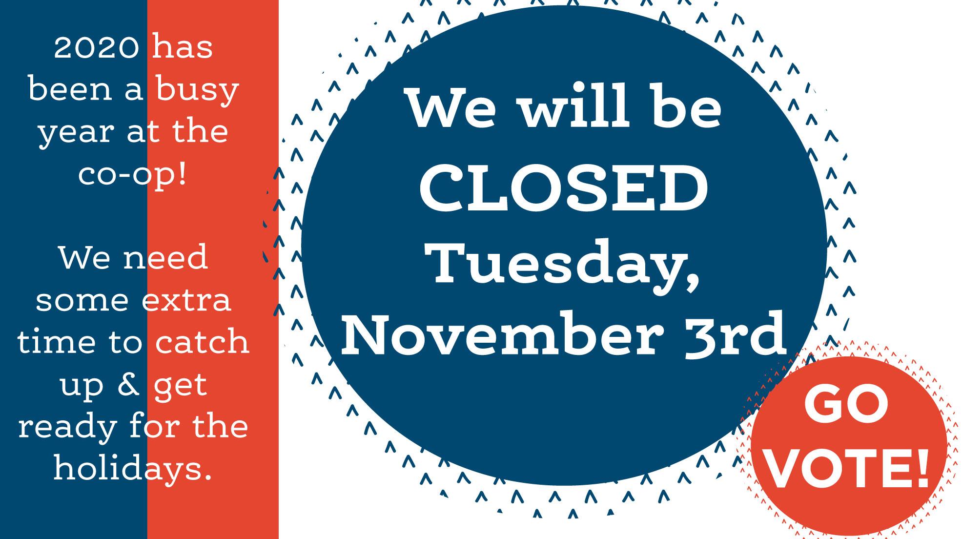 closed nov 3